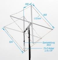 Auch für das 2-m-Band lässt sich aus Draht eine Cubical Quad aufbauen, genauer siehe FA 10/2014