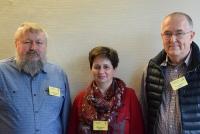 Der neue AATiS-Vorstand, v. l. n. r.: Harald Schönwitz, DL2HSC, Petra Arnold, DH2YL, Peter Eichler, DJ2AX