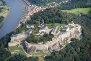 Luftaufnahme der Festung Königstein südöstlich von Dresden